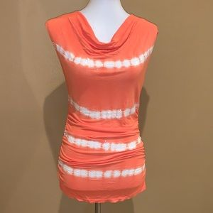 INC Fitted Tie-dyed Striped w/Sequins Top